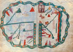 The World Map  taken from Apocalypse Then: Medieval Illuminations from the Morgan