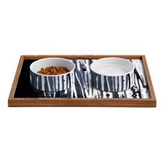 Sophia Buddenhagen White Lines Pet Bowl and Tray | DENY Designs Home Accessories