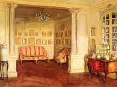 Apartment of Pierre Decourcelle painting