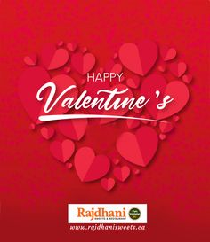 Rajdhani Sweets & Restaurant - one of the best Indian vegetarian food restaurant in Brampton, Etobicoke, Torbram, Bovaird. Happy Valentines Day, Celebrations, Vegetarian Recipes, Sweets, Restaurant, Pure Products, Food, Sweet Pastries, Twist Restaurant