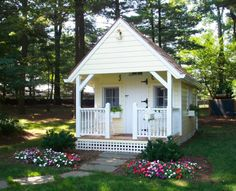 """I think this is a playhouse - but would this style of """"garden shed"""" in my backyard!"""