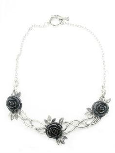 Rose Garden Necklace in White Bronze