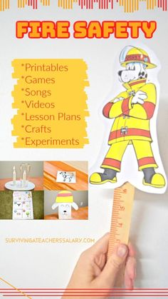 30 Fire Safety Activities for Kids including FREE printables, videos, lesson plans, crafts Fire Safety Crafts, Fire Safety For Kids, Fire Safety Week, Child Safety, Lesson Plans For Toddlers, Lessons For Kids, Safety Games, Safety Tips, Sparky The Fire Dog