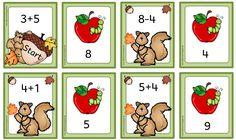 Anlegekarten im Zahlenraum 20 mit herbstlichen Motiven Eine liebe Kollegin hat mich gebeten, einige herbstliche Mathematerialien zu erstel...