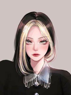 Pretty Anime Girl, Cool Anime Girl, Beautiful Anime Girl, Kawaii Anime Girl, Anime Art Girl, Arte Digital Fantasy, Digital Art Anime, Digital Art Girl, Girl Cartoon