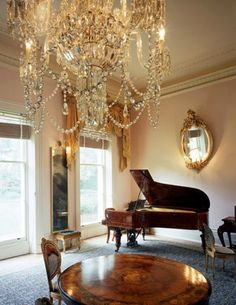 I grew up with chandeliers like this, meh...what I love is that table!