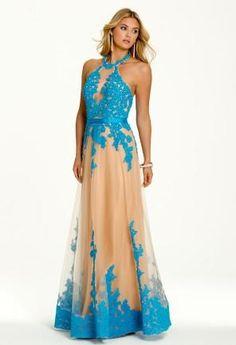 Lace Trimmed Halter Dress   Camillelavie.com