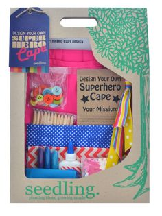Seedling craft kits and kids activities are my absolute fav. #seedlingcraft #kidscraft #seedlingkids http://www.rainbowfun.com.au/assets/full/SDLNG_SUPERHEROCAPE_PINK.jpg