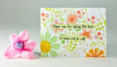"""Quote Magnet   """" Thank you for taking the time to know me so well """""""
