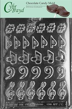 Amazon.com: Life Of Party Molds J006 Music, Music, Music Jobs Chocolate Candy Mold: Kitchen & Dining