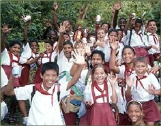 The people travel to Cuba, Cuban School Children.
