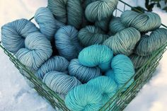 Plucky Knitter- I've heard good stuff about this yarn! Must try!