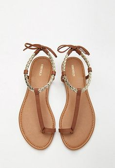 Forever 21 is the authority on fashion & the go-to retailer for the latest trends, styles & the hottest deals. Toe Ring Sandals, Shoes Flats Sandals, Sandals Outfit, Trendy Sandals, Sexy Sandals, Cute Sandals, Bridal Shoes, Wedding Shoes, Mode Streetwear