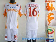 527a301ae8 AS Roma 16 Daniele De Rossi Soccer Jersey White As Roma