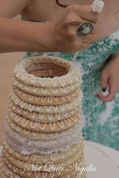 kransekake - or Scandinavian Holiday cake (traditional at weddings, too!) Recipe at the link!
