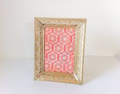 Vintage Gold Filigree Picture Frame by RetroTiles on Etsy 5x7 Frames, Gold Picture Frames, Table Top Display, Gold Filigree, Art Pictures, Tiles, Decorative Boxes, Retro, Handmade