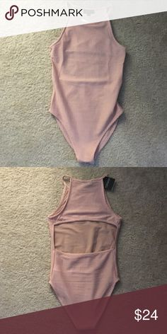 Cutout back body suit from topshop Super comfy and cute body suit with a cutout back. A pale pink color. Never worn Topshop Tops Tank Tops The Effective Pictures We Offer You About Body Suit and jeans Pale Pink, Pink Color, Full Body Suit, Body Suits, Casual Outfits, Cute Outfits, Body Suit Outfits, Bodysuit Fashion, Topshop Tops