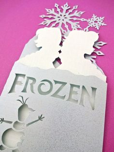 RESERVED FOR S - 5 x Frozen Anna and Elsa Standing Folded Card - Original…