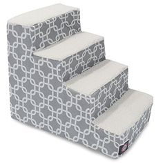 Special Offers - 4 Step Portable Pet Stairs By Majestic Pet Products Gray Links Steps for Cats and Dogs - In stock & Free Shipping. You can save more money! Check It (August 05 2016 at 06:03PM) >> http://doghousesusa.net/4-step-portable-pet-stairs-by-majestic-pet-products-gray-links-steps-for-cats-and-dogs/
