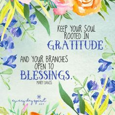 Keep your soul rooted in gratitude and your branches open to blessings. >Gratitude Circle Day 39