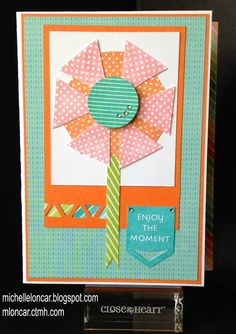 Show and Tell, with Michelle: May Stamp of the Month Blog Hop ~ Just Sayin' #Blossom #TriangleBorderPunch