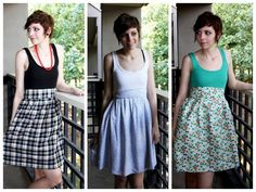 DIY Cheap and Easy Dress Using a Tank Top and Three Yards of Fabric