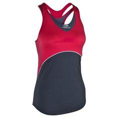 RUNNING_textil - Camiseta de tirantes de running mujer Kalenji Kiprun roja