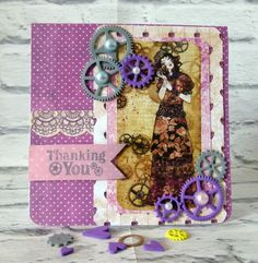 Thinking of you card Step by step instructions #trimcraft #santorowillow #willow #scrapbooking #santoro