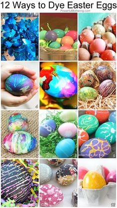 Bring excitement to egg dying this easter! Here are 12 ways you can dye those easter eggs and have a ton of fun with the kids!
