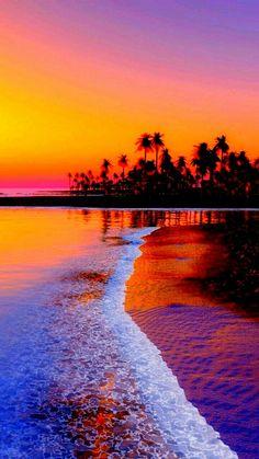 Beautiful Nature Wallpaper, Beautiful Sunset, Beautiful Beaches, Beautiful Landscapes, Amazing Sunsets, Amazing Nature, Beach Pictures, Nature Pictures, Sunsets Hawaii