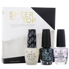 Coffret OPI Sheer to the Top, cliquez sur l'image pour shopper #bazarchic #opi #coffret #remise #prix #price #nails #nailart #nailpolish #matte #mate #glitters