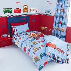 For Deacon's room Disney Cars Bed Linen Collection Boys Car Bedroom, Bedroom Red, Toddler Rooms, Baby Boy Rooms, Kids Rooms, Lightening Mcqueen Bedroom, Disney Cars Room, Disney Pixar, Car Themed Rooms