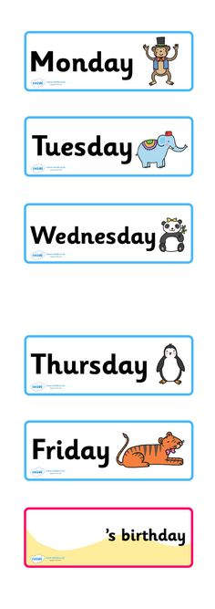 Twinkl Resources >> Our Calendar Animal Themed  >> Classroom printables for Pre-School, Kindergarten, Primary School and beyond! calendar, animal themed, days of the week, printable