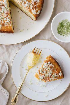 lime , yogurt & olive oil cake