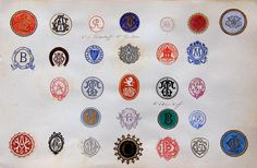 Victorian monogram collection.