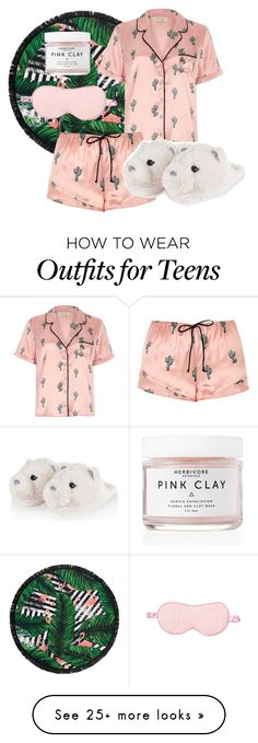 """""""[SUMMER] Sleep Tight"""" by gtfocl on Polyvore featuring LaMont, River Island, Herbivore, sleep, pajamas and staycation"""