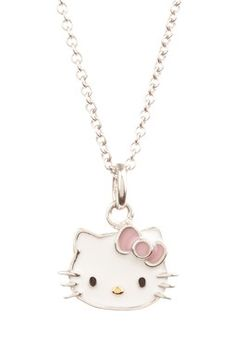 Hello Kitty enamel face pendant