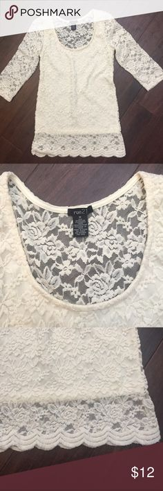 Lave Top Like New. I'm pretty sure I've never worn it. Fourth picture shows the back. Back side is all see thru lace. Rue21 Tops Blouses