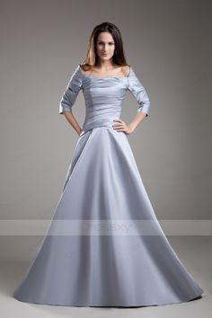 Satin Princess Floor-length Evening Dresses