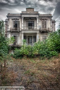 The abandoned Salem Mansion, Thessaloniki, Greece, built in 1878.