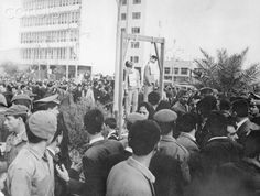 The 1969 public hangings of 9 Jews in Iraq who were falsely accused of spying for Israel. Half a million people paraded and danced past the scaffolds where the men were hung, which resulted in international criticism. An Iraqi Jew who later left wrote that the stress of persecution caused ulcers, heart attacks, and breakdowns. In the early 1970s, bowing to international pressure, the Iraqi government allowed most of the remaining Jews to emigrate