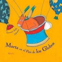 Portada del álbum ilustrado de Albertine Marta en el País de los Globos Hans Christian, Pikachu, Disney Characters, Fictional Characters, Illustration, Products, Shared Reading, New Adventures, Animation Movies