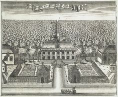 Etching of Catherinehof by Aleksey Zubov in 1716 in Saint Petersburg, Russia built by Tsar Peter I The Great Alexseyevich Romanov (9 Jun 1672-8 Feb 1725 age 52) Russia for his 2nd wife Tsaritsa Catherine I Samuilovna Skowrońska  (Marta Helena) (1684-1727 age 43) Poland. Imperial Estate on the road leading from the capital to Peter I The Great's Summer Residence, Peterhof.