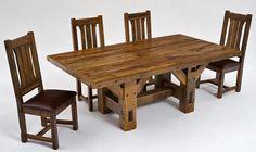 Barnwood Furniture Timber Frame Table Design 2
