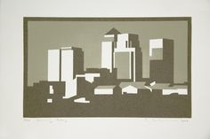 Paul Catherall is a London born printmaker and illustrator, exhibiting his bold linocuts of architectural landmarks at a solo exhibition at For Arts Sake Architecture Illustrations, City Scapes, Architectural Prints, City Illustration, Screenprinting, City Architecture, Concrete Jungle, Wood Engraving, Creative People
