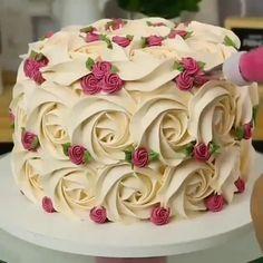 Cake Decorating Frosting, Cake Decorating Designs, Creative Cake Decorating, Cookie Decorating, Decorating Ideas, Easy Cake Designs, Creative Cakes, Decor Ideas, Cake Decorating For Beginners