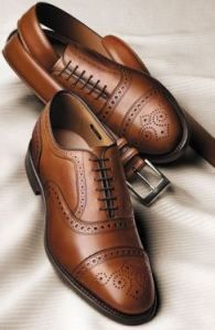 For some strange reason, the US of A only has two companies left that actually make shoes here (the Brits, French and Italians have dozens). Allen Edmonds, based in Wisconsin, is one of them, and the Strand, pictured here, is a beautiful shoe.
