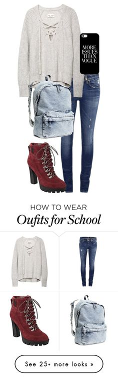 """School day"" by bella-whaley on Polyvore featuring ONLY, Casetify, Nine West and H&M"