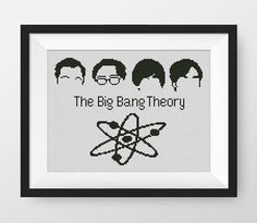 The Big Bang Theory Cross Stitch Pattern, PDF counted cross stitch pattern, P138