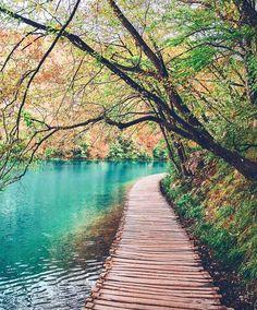 Wooden Paths Of Plitvice Lakes Ahmet Erdem Wooden Path Walk This Way